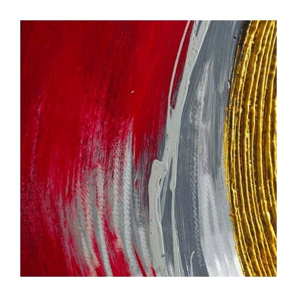 peinture abstraite rouge et m tal 120 x 60x 4 cm. Black Bedroom Furniture Sets. Home Design Ideas
