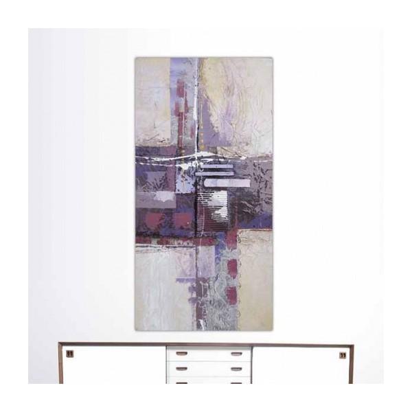 Salle De Bain Beige Et Blanche : Tableaux peinture > Peinture abstraite > Tableau abstrait violet