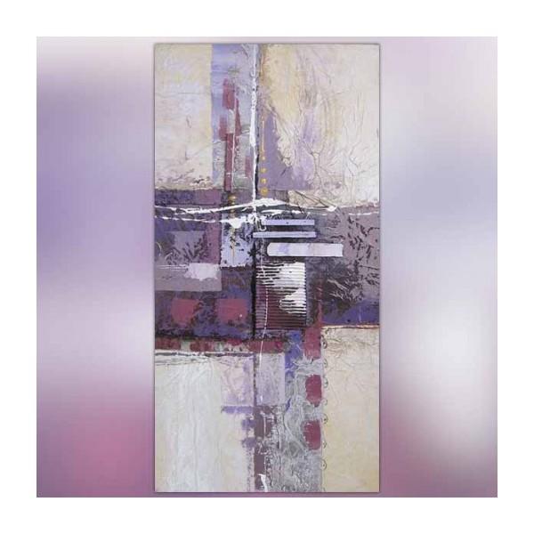 Tableau abstrait violet 120x60cm for Peinture gris violet