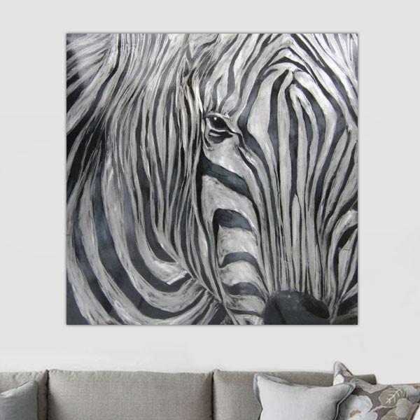 Tableau zebre champs prairie 2 tableau zebre