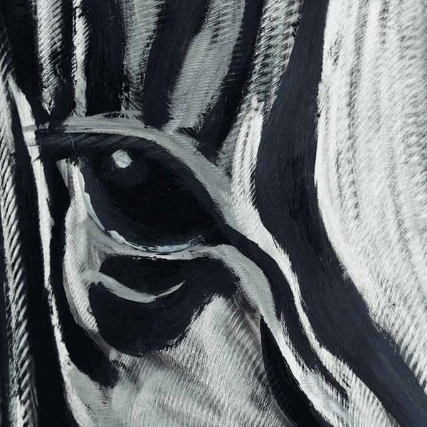 tableau peinture zebre