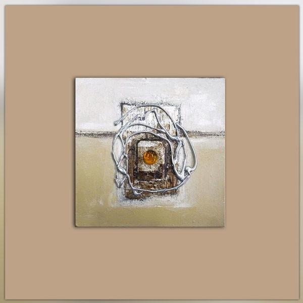 composition abstraite marron et beige 40x40cm. Black Bedroom Furniture Sets. Home Design Ideas