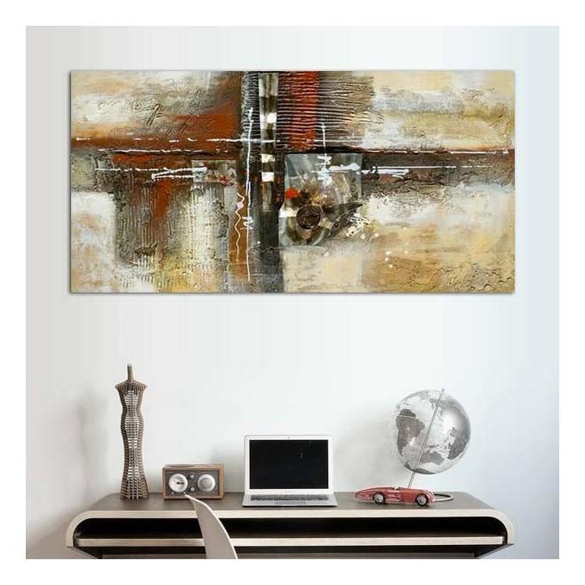 Tableau style industriel contemporain - Tableaux tryptiques contemporains ...