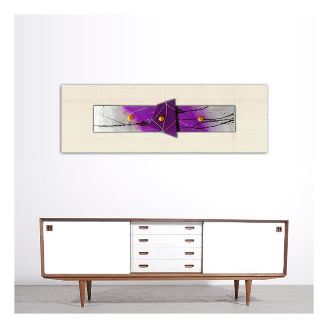 Peinture abstraite violette