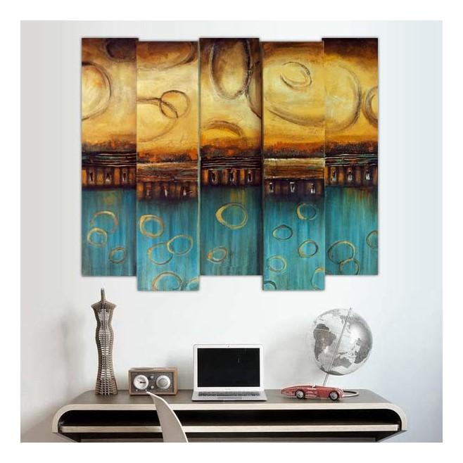 tableau design en relief 3d 85 x 100 cm. Black Bedroom Furniture Sets. Home Design Ideas