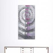 Tableau spirale, figue et argent