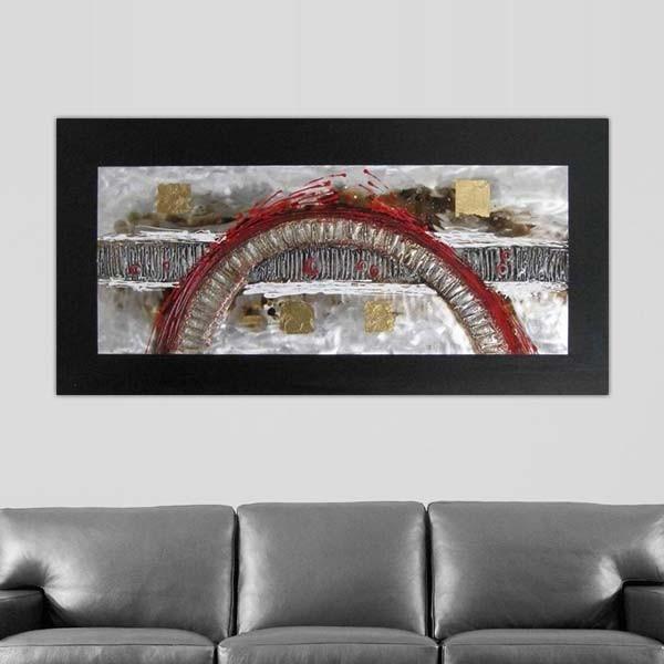 Tableau design toile panoramique arche 120 x 60 cm for Tableau design xxl