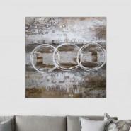 Tableau industriel motif rond