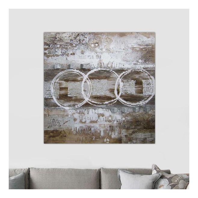 tableau design fa on rauschenberg 100 x 100 cm. Black Bedroom Furniture Sets. Home Design Ideas