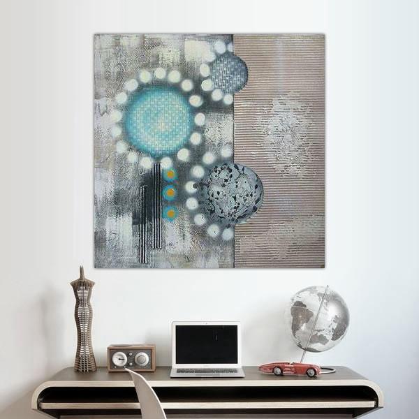 Peinture fleur sérigraphiée