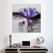 fleur violette abstraite