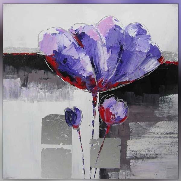 tableau fleurs abstrait