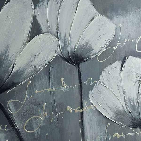 peinture de fleurs des champs tableau floral blanc. Black Bedroom Furniture Sets. Home Design Ideas