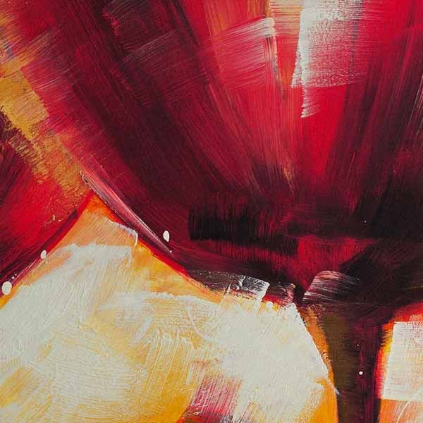 Peinture De Fleur Ton Charnel Tableau Floral Rouge