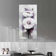 Toile fleur blanche style renoncule