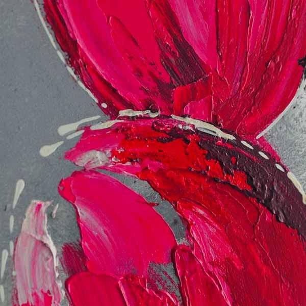 Peinture De Fleur Rose Sur Feuille D Aluminium