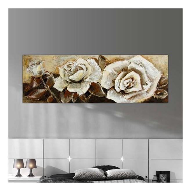 Peinture panoramique bouton de rose