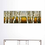 Peinture de nature, fôret et champ de blé
