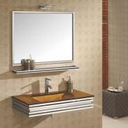 Ensemble mobilier de salle de bain en verre Polly