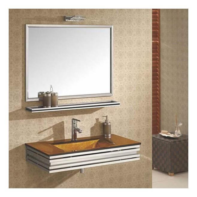 Mobilier de salle de bain en verre polly for Mobilier de salle de bain