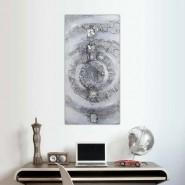 Peinture spirale argentée