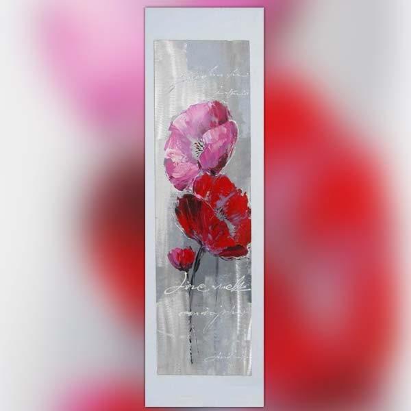tableau contemporain fleur rose 120 x 60 new art gallery. Black Bedroom Furniture Sets. Home Design Ideas