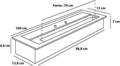 chauffage 9 kw insert poser thanol 100 cm. Black Bedroom Furniture Sets. Home Design Ideas