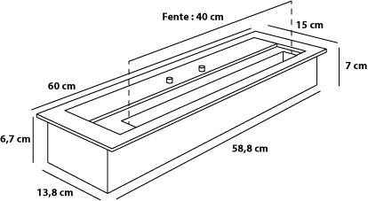 Bruleur 60 cm dimensions