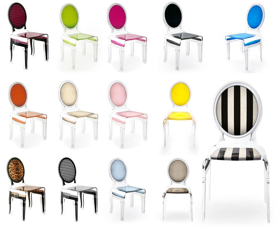 Chaise Transparente Sixteen En Plexiglass